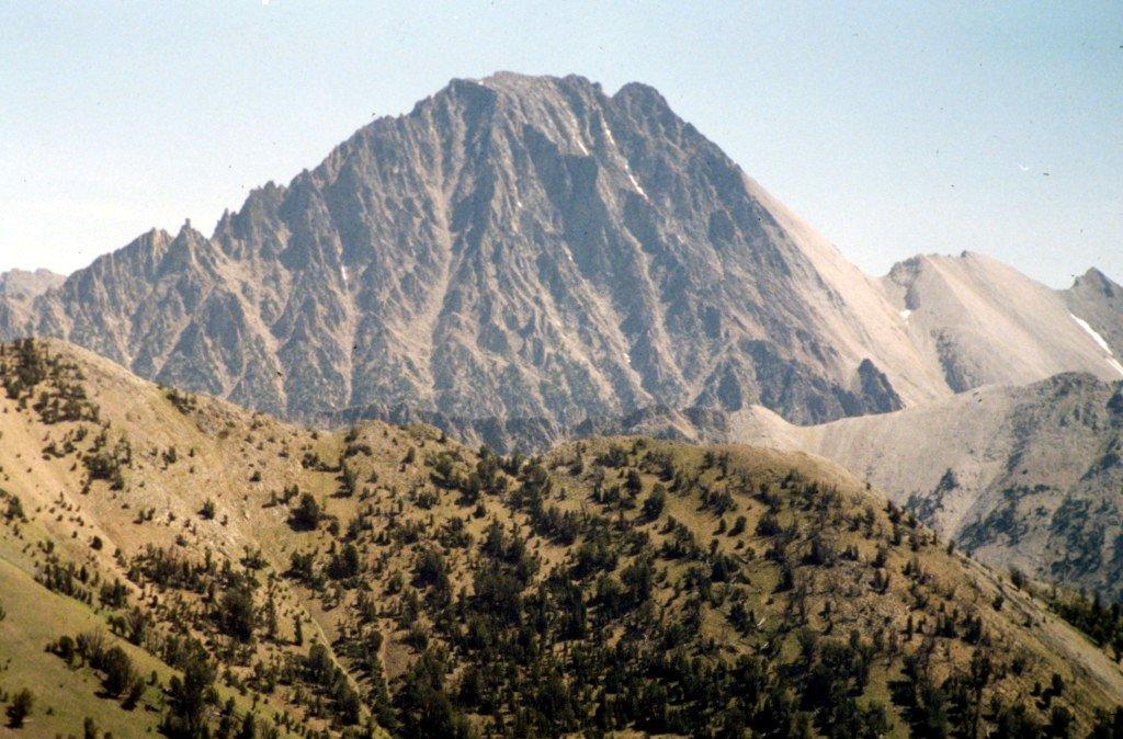 Castle Peak from Croesus Peak.