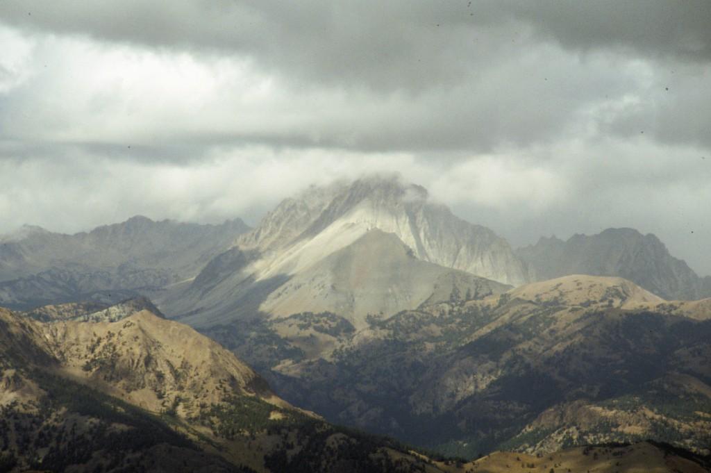 Castle Peak from Ryan Peak in the Boulders.