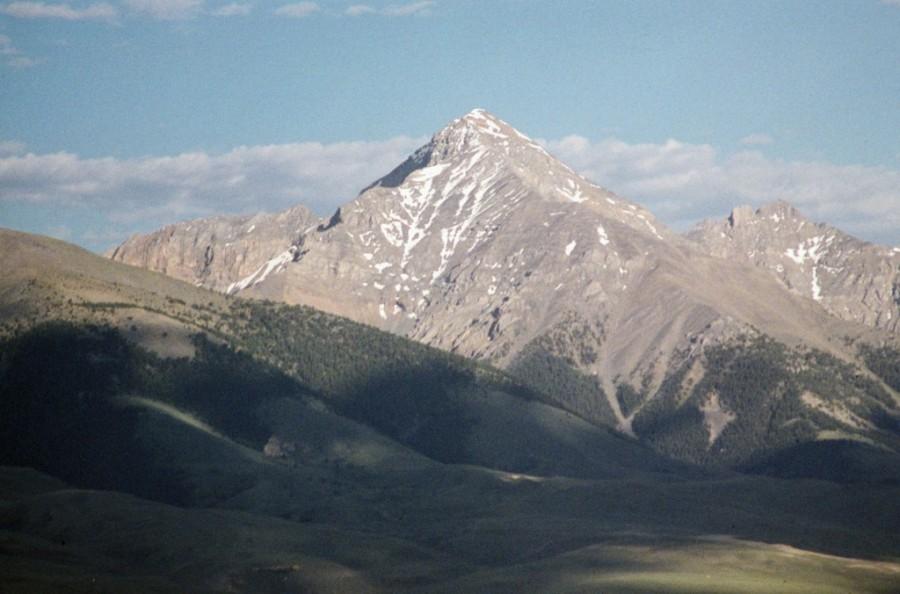 Diamond Peak from Italian Peak