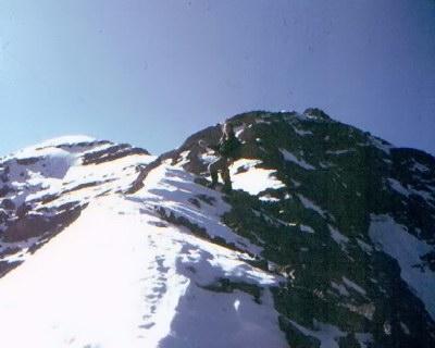 East Ridge of Diamond Peak December 1981.