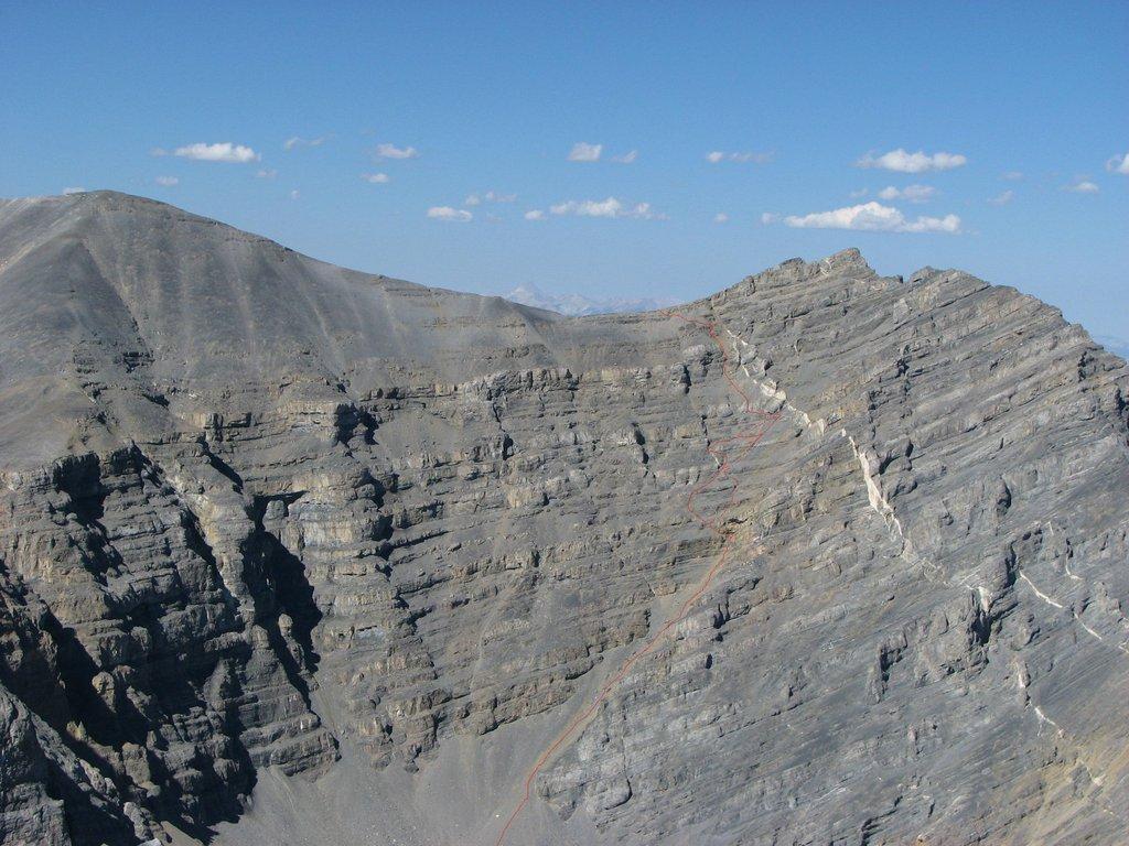 Northwest Gully / North Ridge Route. Photo - Judy Steciak & Carl Hamke