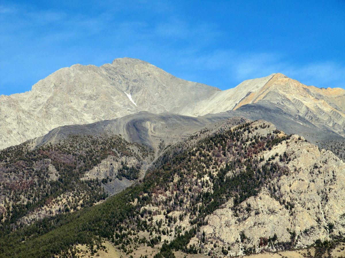 Mount Borah's Southwest / Chicken Out Ridge route. Photo - Margo Mandella