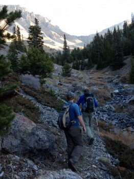 Mark Jones and Dan Paulson are simply running up the trail on an early October morning.