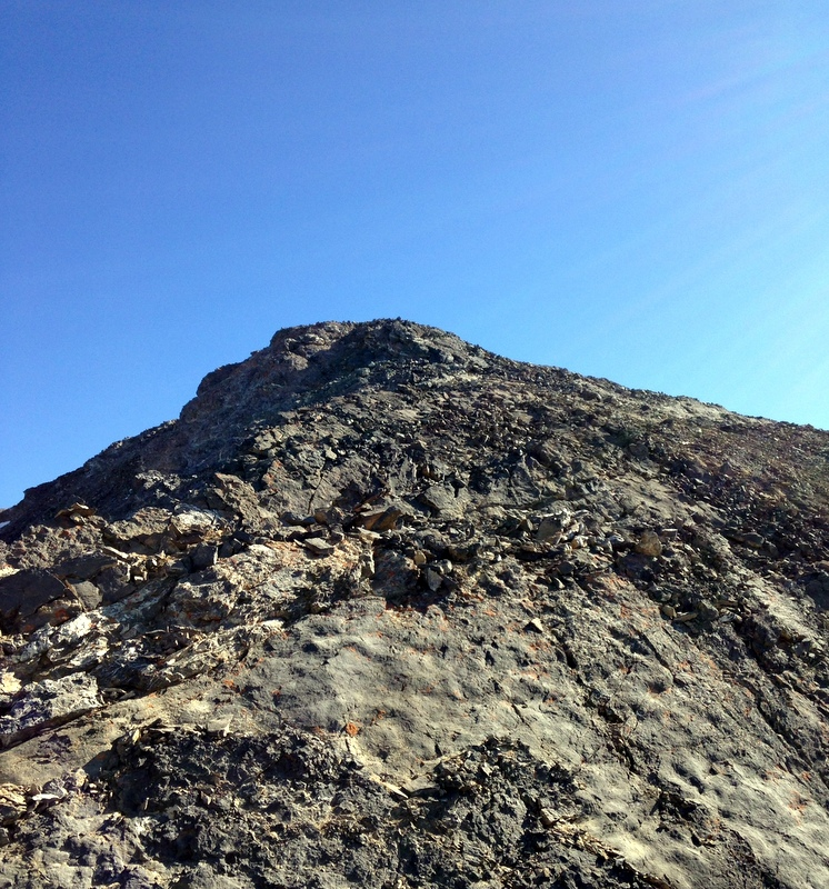 The summit finally comes into view and it is close by once you reach the ridge top. You will find that you are well above the low spot of the Church Donaldson ridgeline.