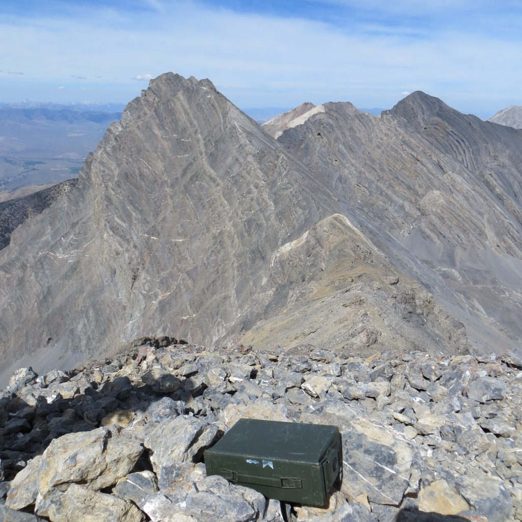 Summit of Donaldson Peak with Mount Church in the background. Photo - Steve Mandella