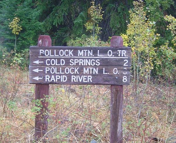 Trail sign at Chokecherry Flat. Dave Pahlas Photo