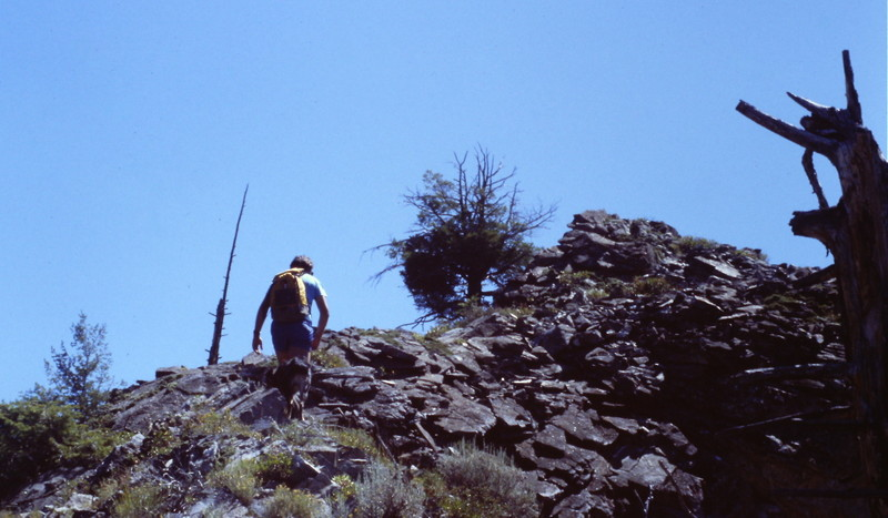 The west ridge is all Class 2 terrain and a bit steep at times.