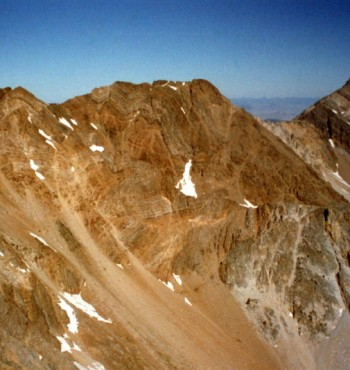 Peak 11967 and Idaho from White Cap Mountain.