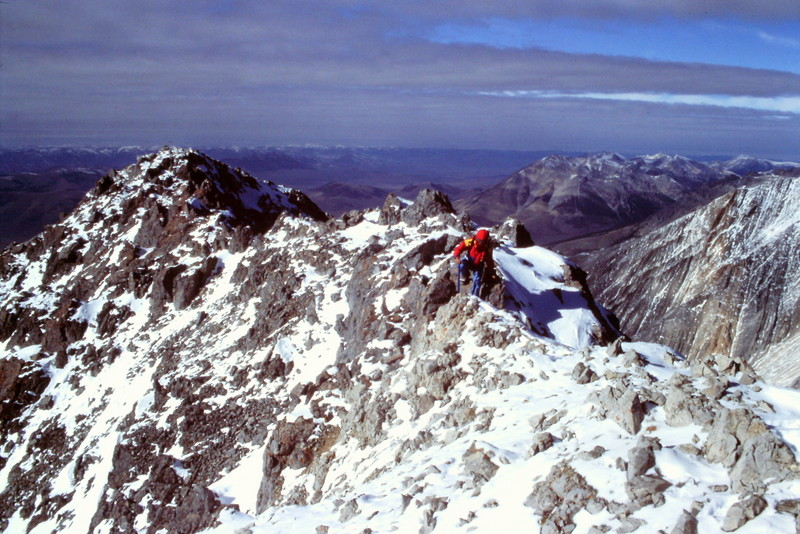 Basil Service on the summit ridge.