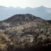 Slab Butte is an attractive peak with lots of granite conducive to short technical routes. This view is from Granite Mountain.