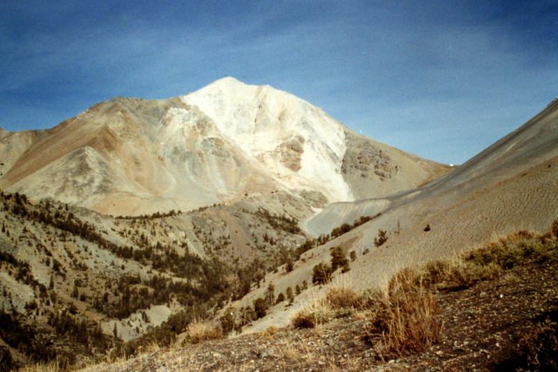 White Cap peak viewed from Upper Cedar Creek.