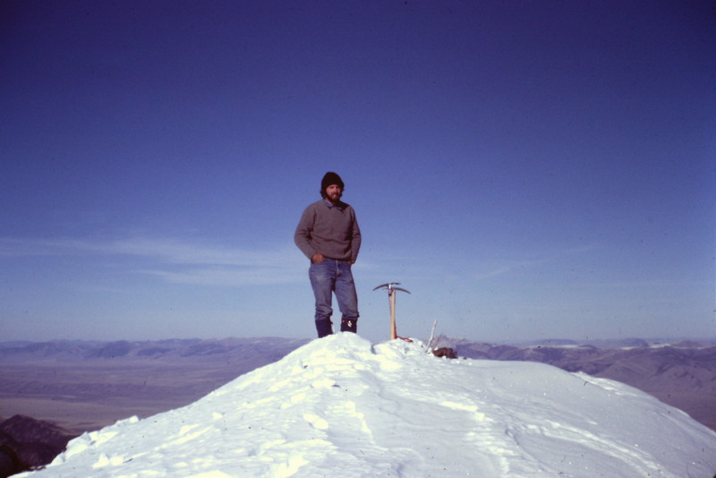 The summit, November 1981. Notice the climbing attire of the day.