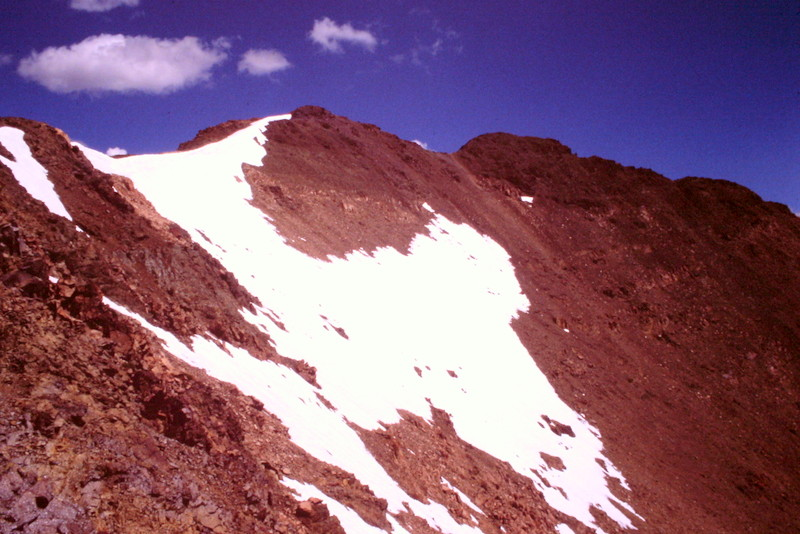 The summit of Galena Peak.