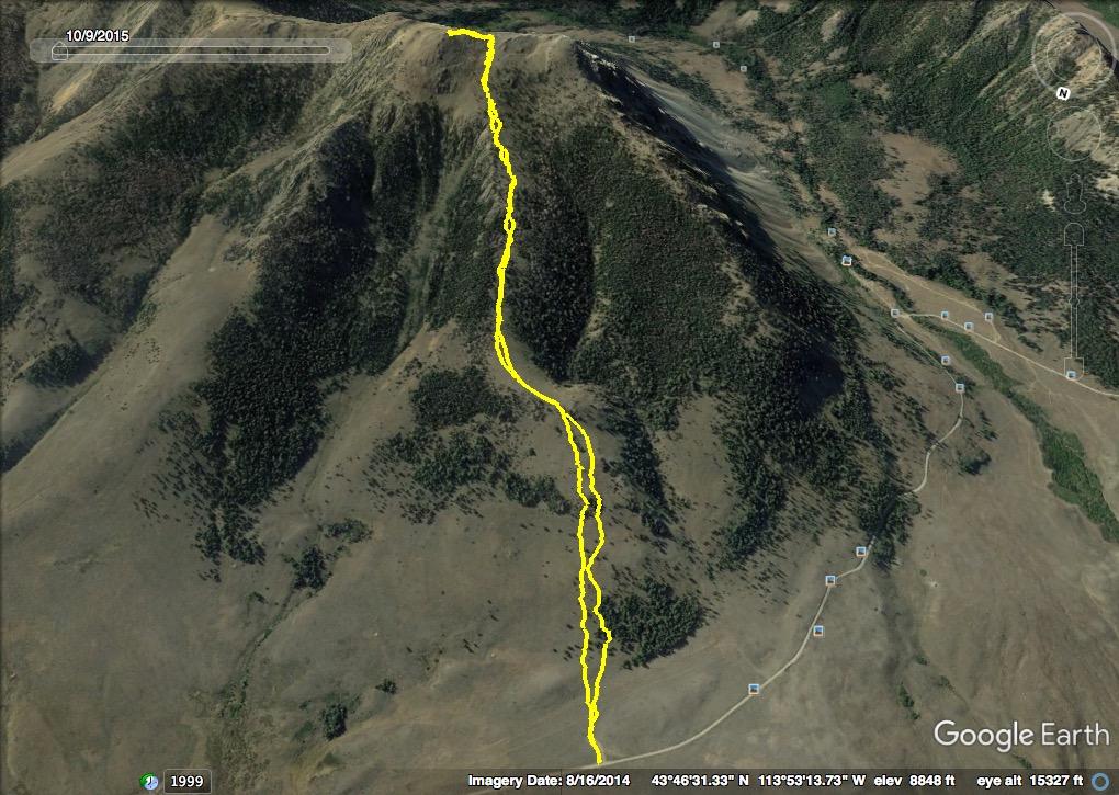GPS track of the Mandella's 2017 route. Track - Steve Mandella
