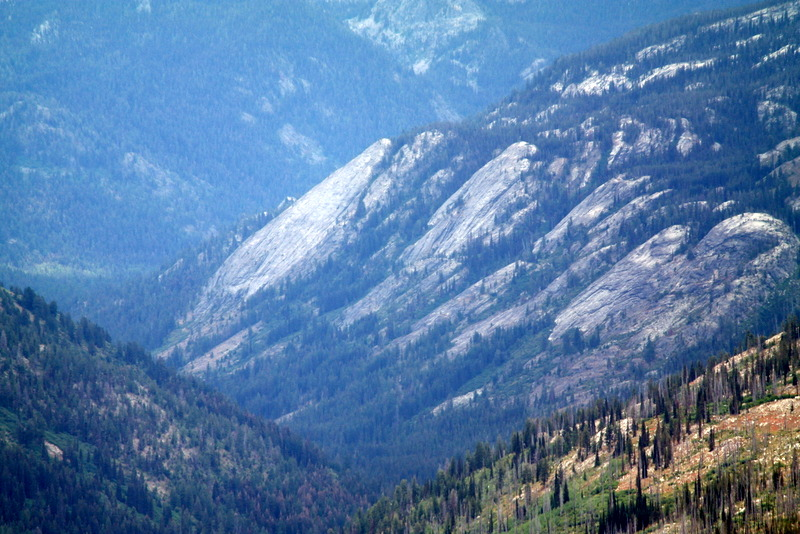 This is a telephoto view of Slick Rock from Burnside Peak. It puts a whole new perspective on the formation.