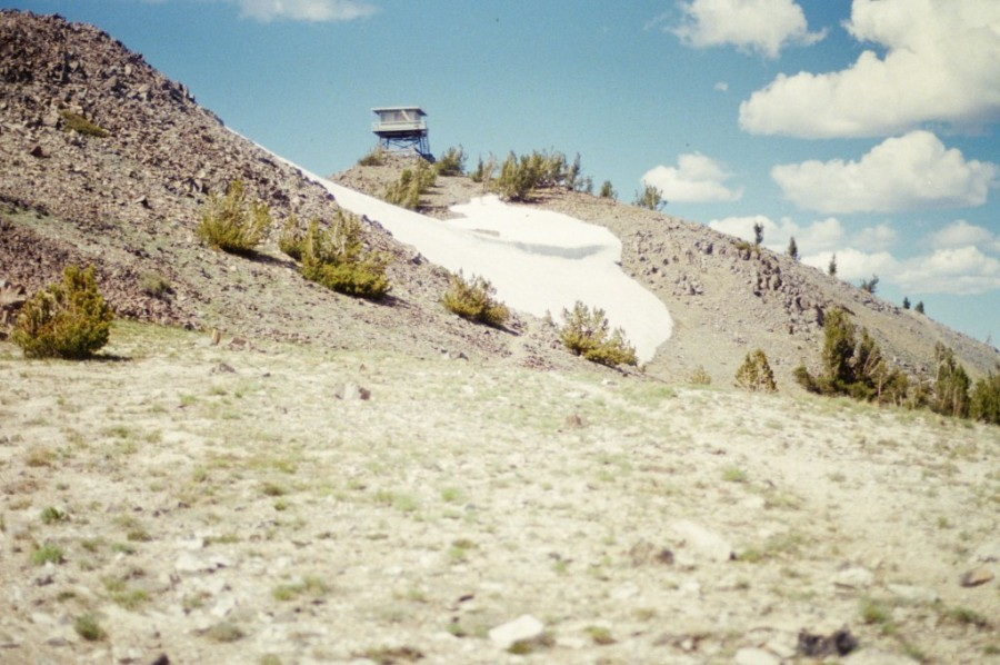 The summit of Boig Baldy which holds an active fire lookout during the summer.