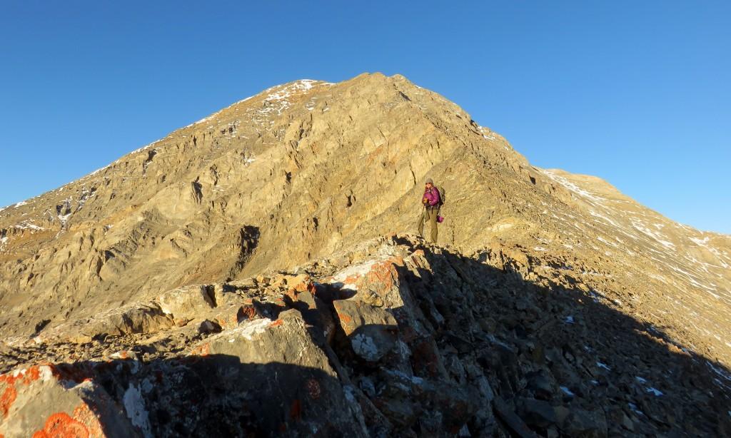 Moving up the ridge. Photo - Dan Paulson