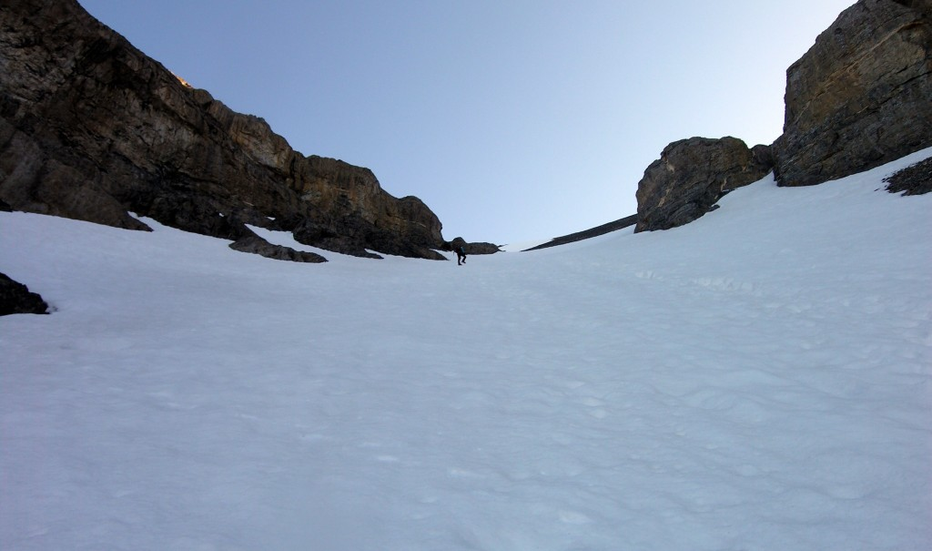 An ice axe and crampons are essential and some will want to rope up. Dan Paulson Photo