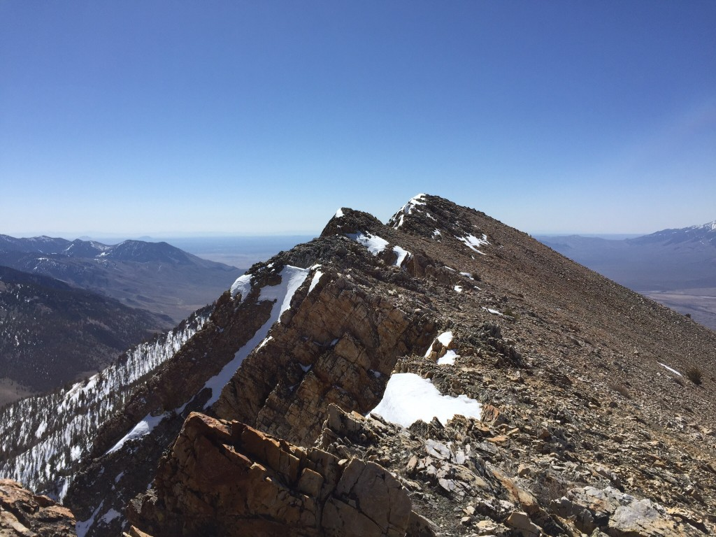 The summit viewed from the peaks lower north summit.