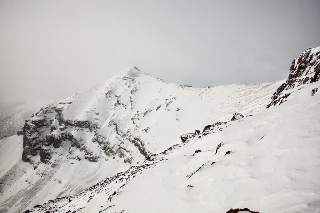 A winter view of Huhs Horn. Larry Prescott Photo