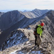 A view looking down the ridge about midway to the summit. Larry Prescott Photo
