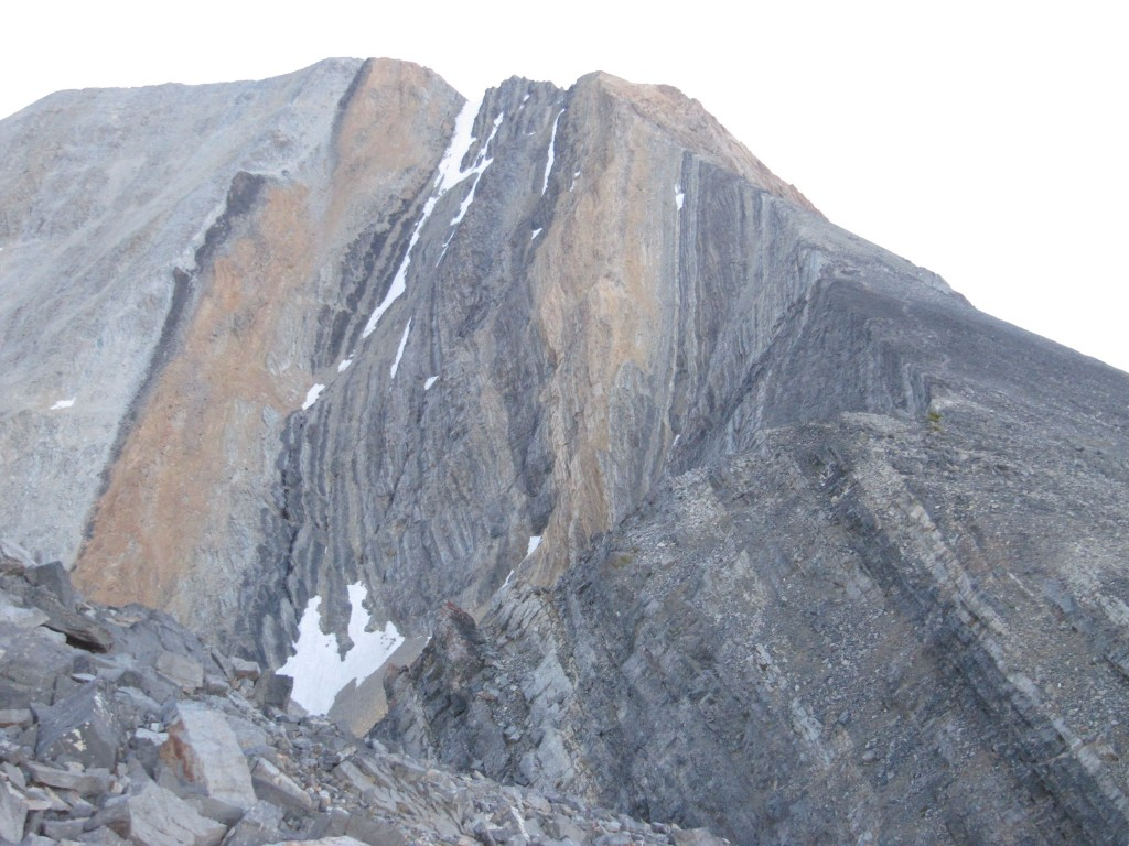 A view of the Standard Route ridge from the distance. Margo Mandella Photo