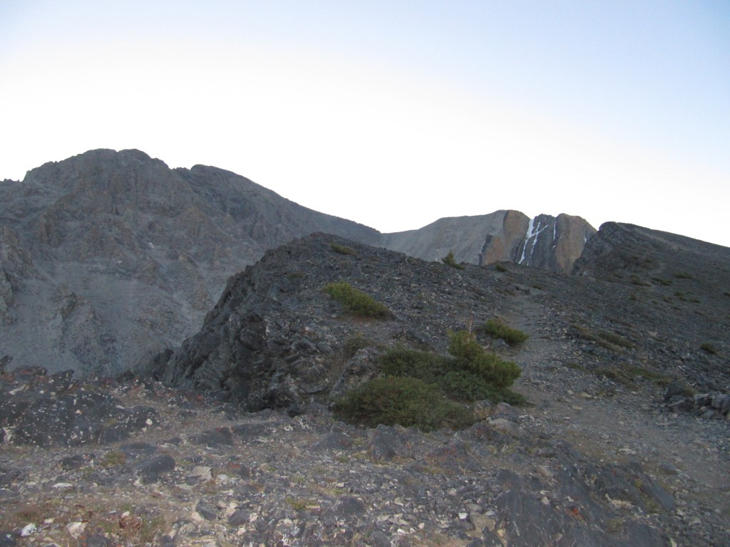 This photo shows the climber trail moving up the ridge. Margo Mandella Photo