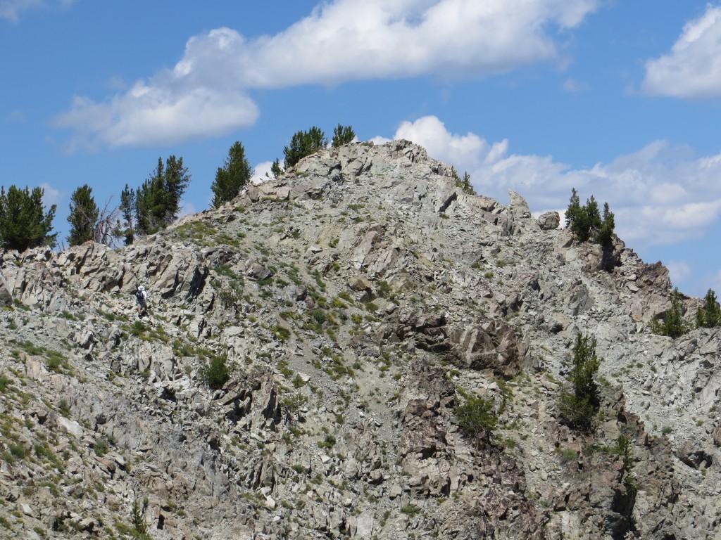 A climber approaching the summit. John Fadgen Photo