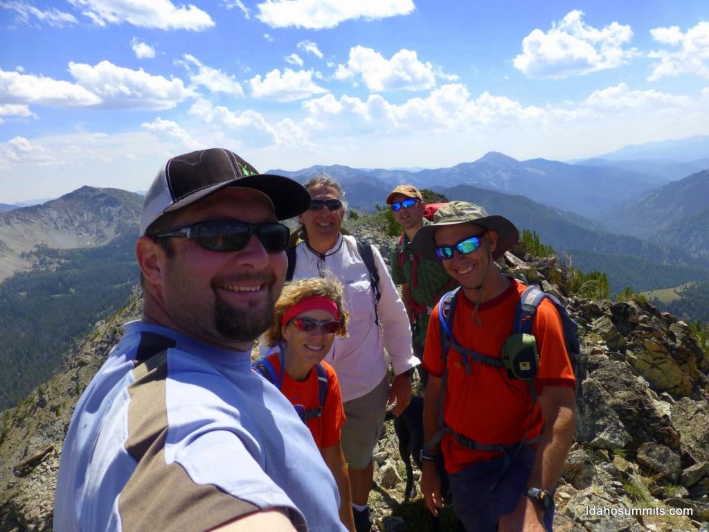 The happy climbers. Dan Robbins Photo