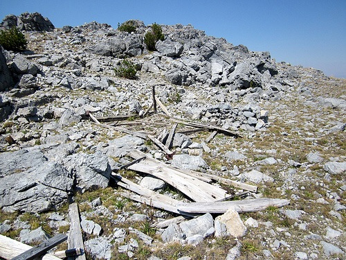 The tent cabin, with trail to summit in background? Ray Brooks Photo