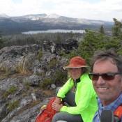 John and Julie Platt on the summit. That's Granite Lake in the background, with Blacktip Mountain on the horizon. John Platt Photo