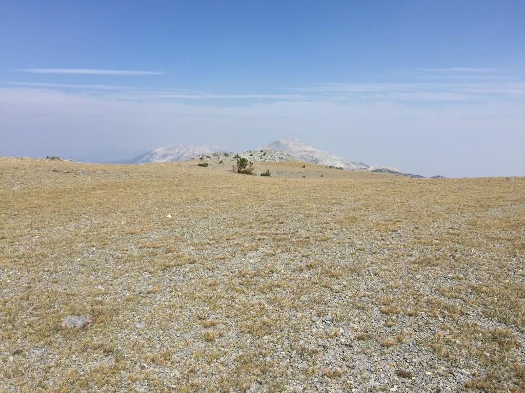 The expansive summit plateau of Big Windy Peak.