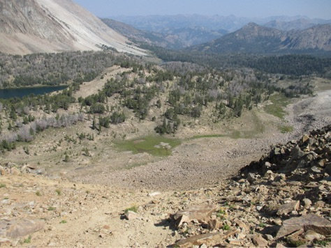 Looking east from Chamberlain Col.