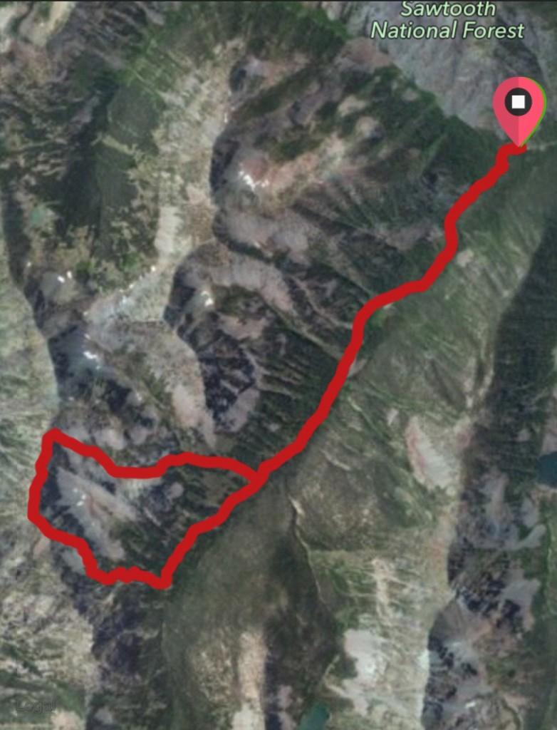 Peak 10158 route.