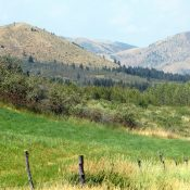 Peak 6582 (left) and Slate Mountain (right). photo - Steve Mandella