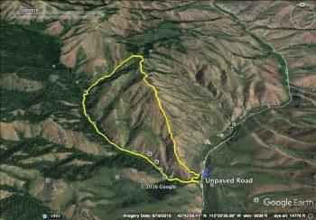 Peak 6472. GPS Track - Steve Mandella.