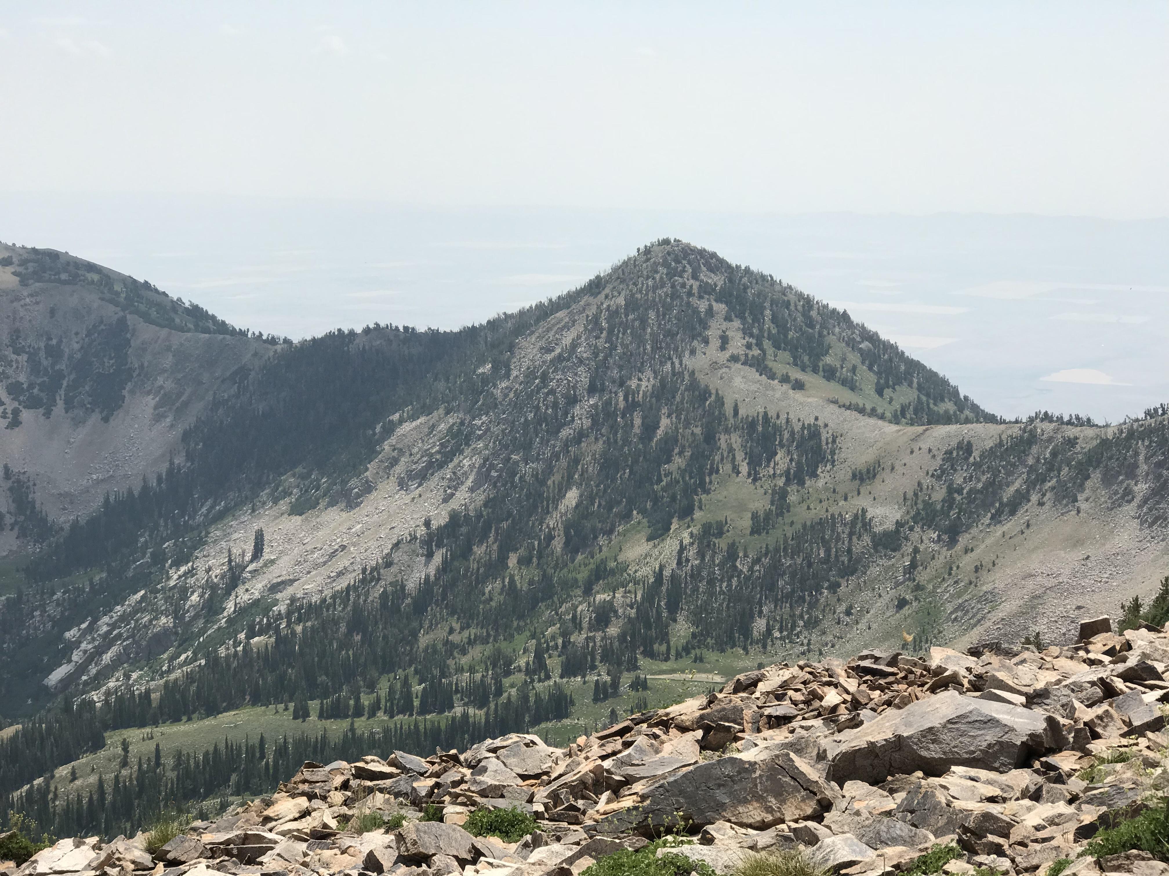 Third Peak viewed from the north ridge of North Smoky Dome.