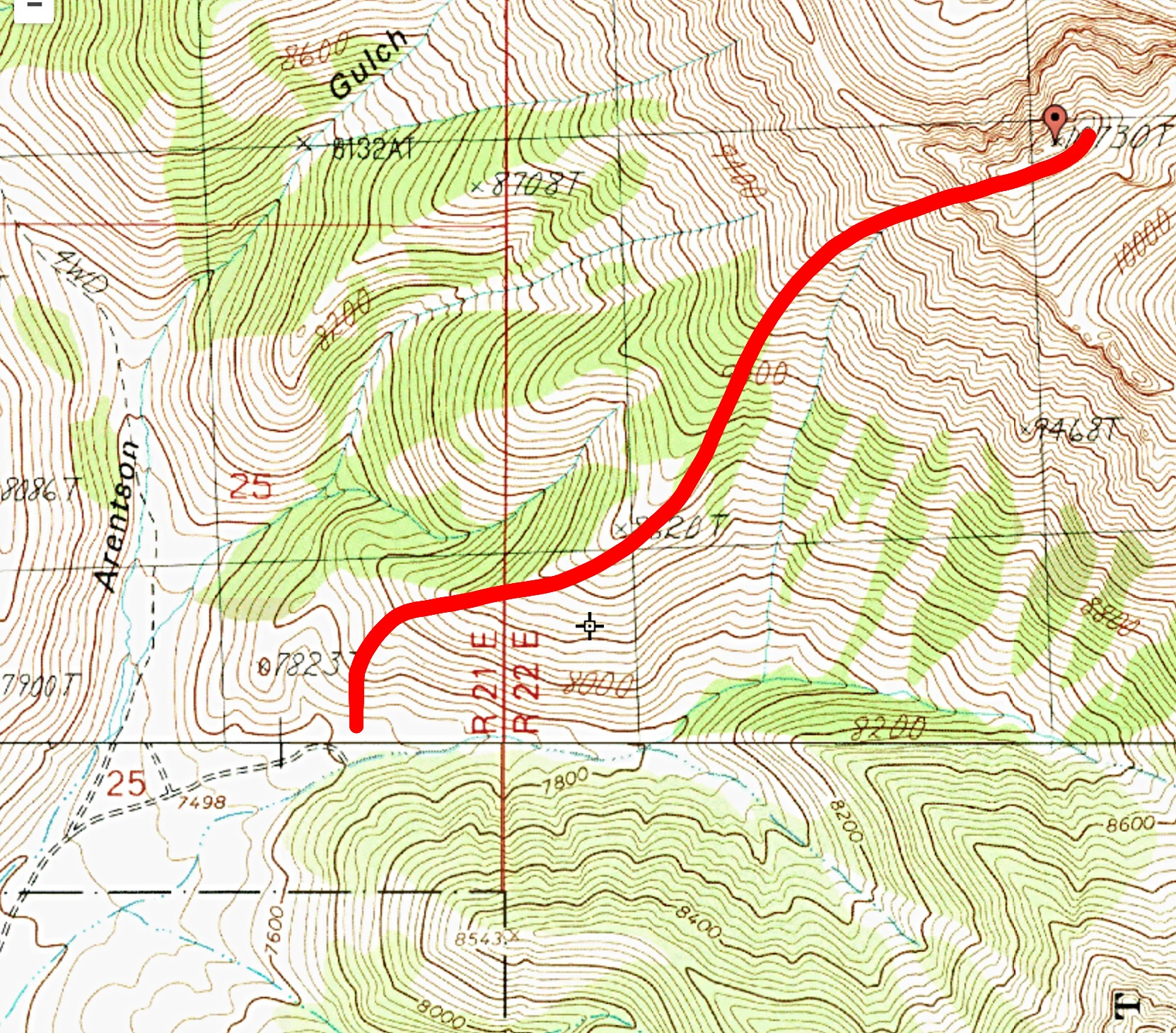 The west ridge route.
