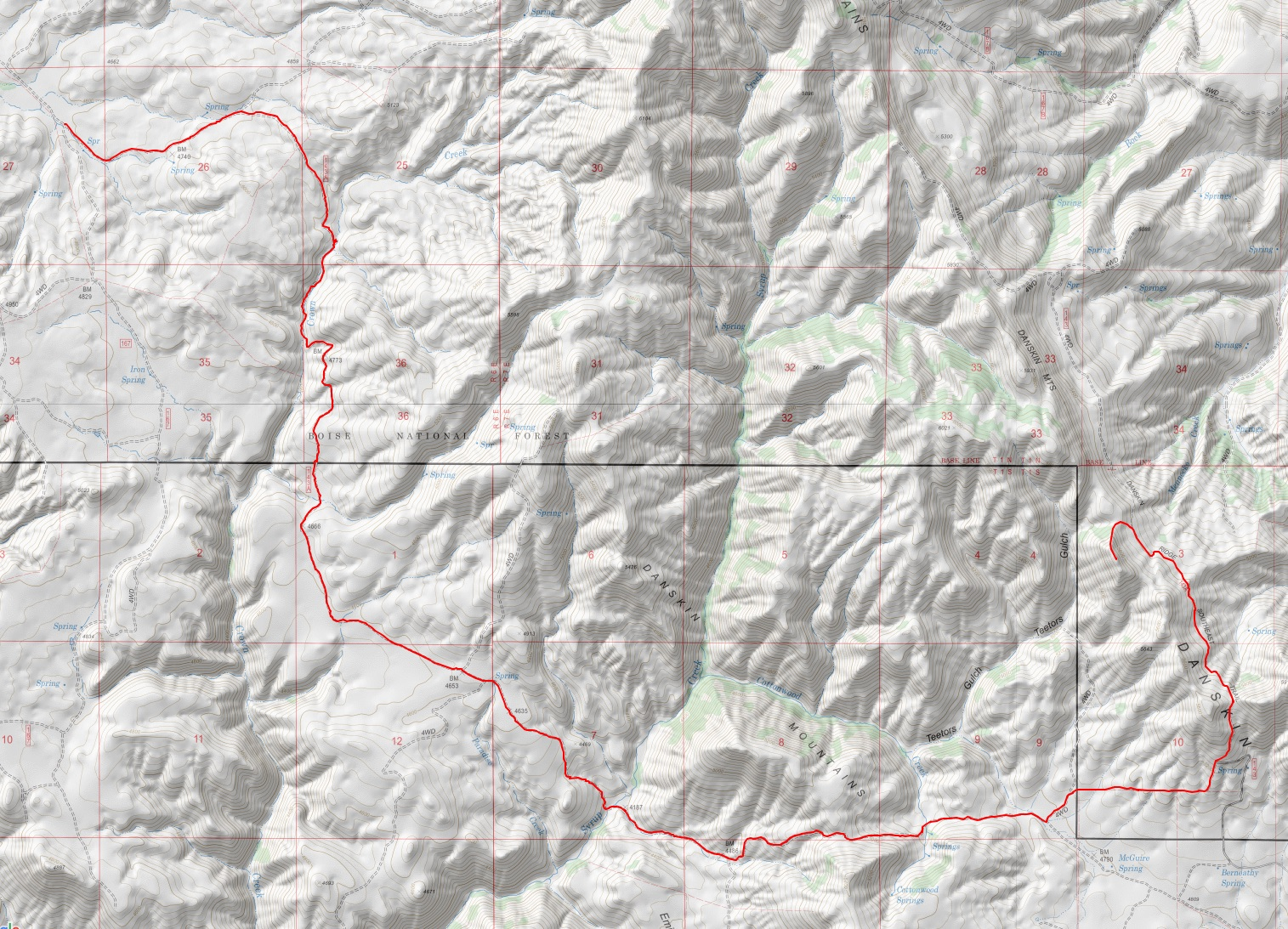 JEFFREY-GOODALE CUTTOFF OREGON TRAIL#143A GPS Track.