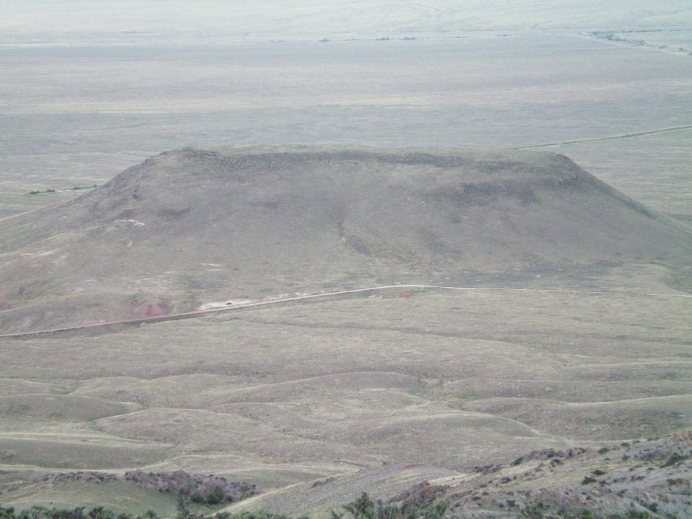 The east face of Scott Butte as viewed from the summit of Peak 6934 to the east. Livingston Douglas