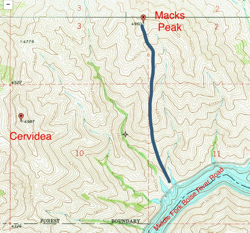The South Ridge route climbs 1,850 feet in 1.2 miles.