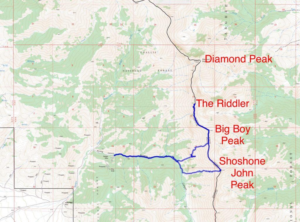Derek's GPS track.