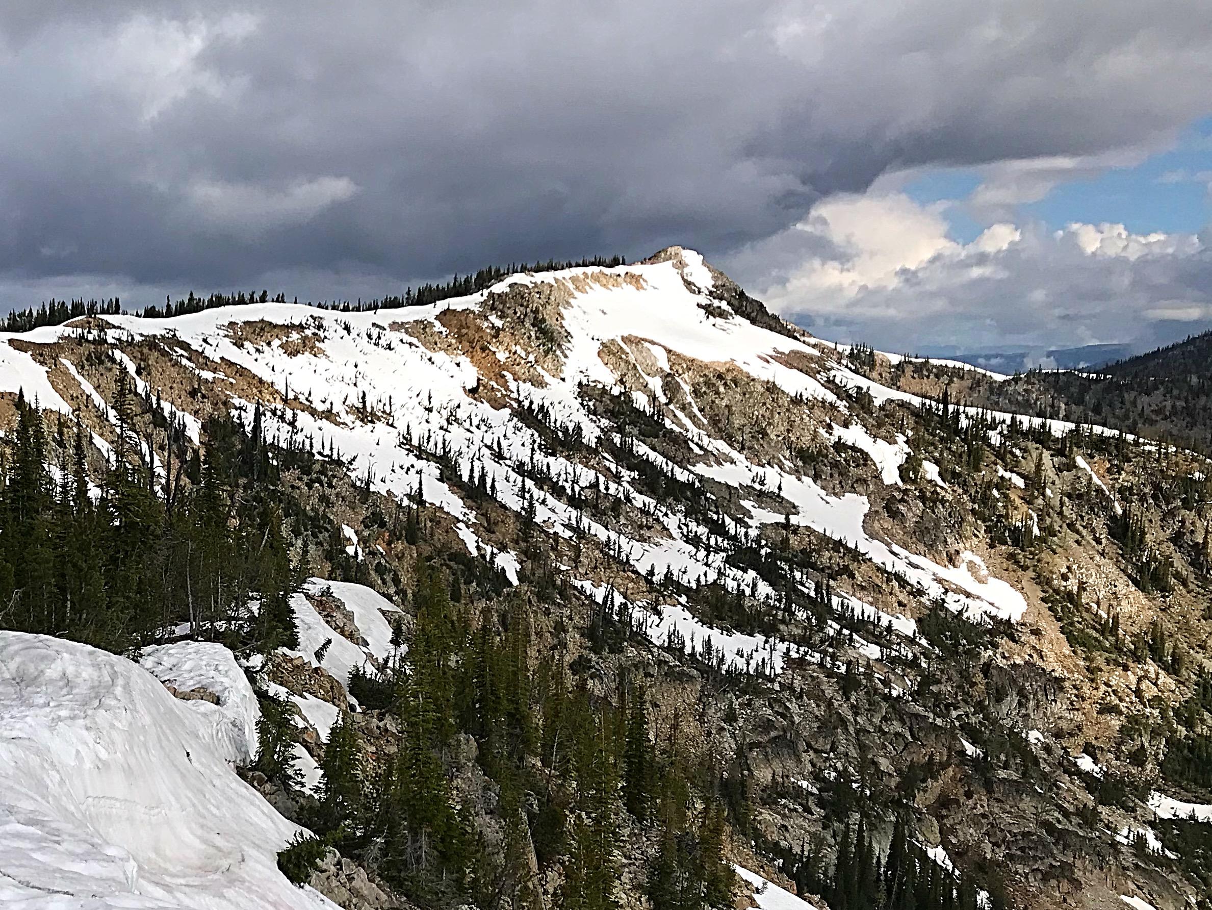 Approaching Wilson Peak.