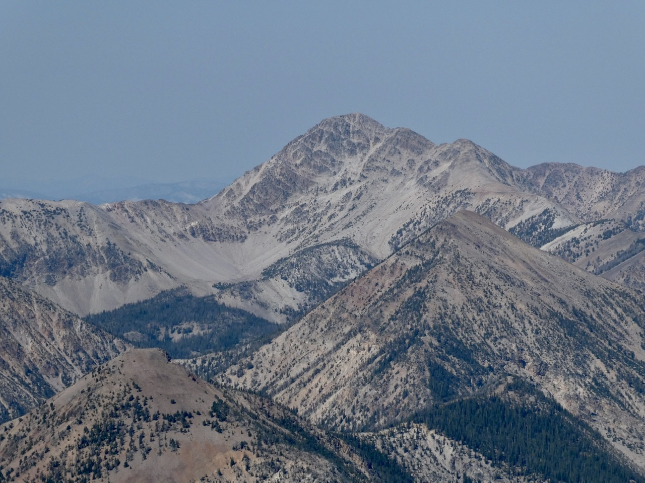 May Mountain viewed from Buffalo Skull Peak.