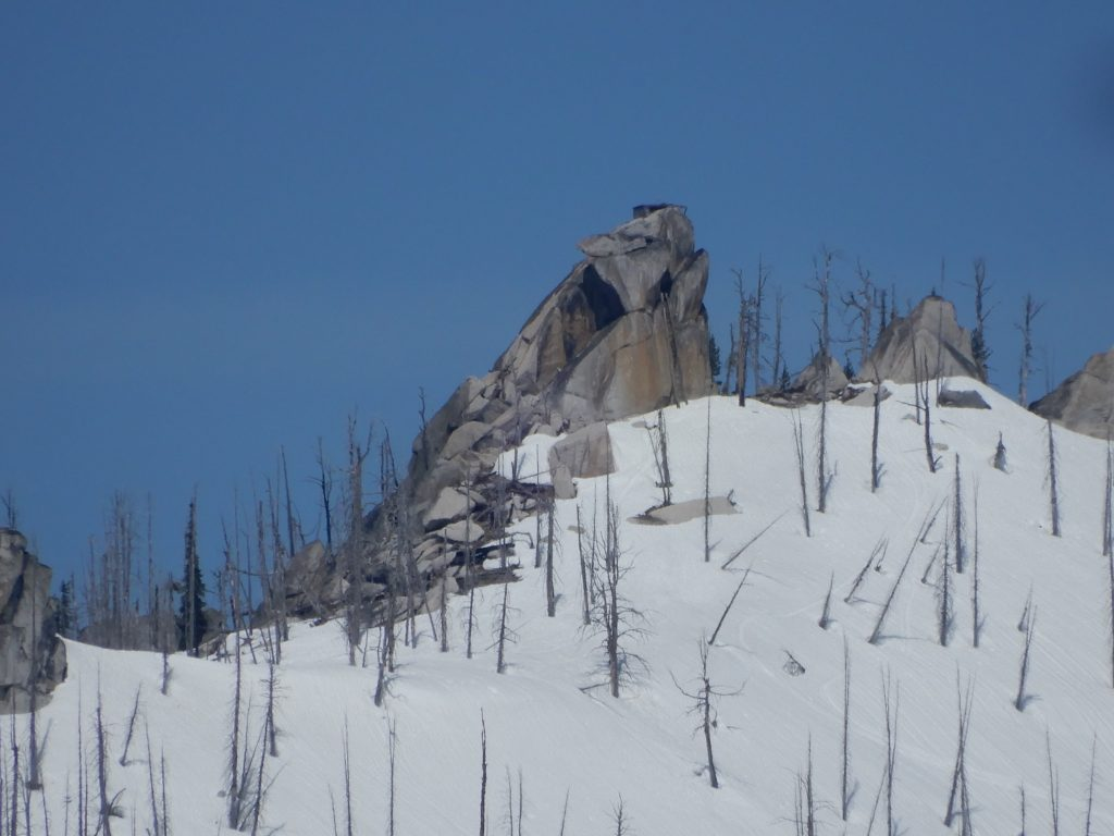 Gold Fork Rock viewed from Peak 7081. John Platt Photo