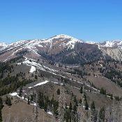 Shaw Mountain viewed from Peak 8595 (Trouble Peak).