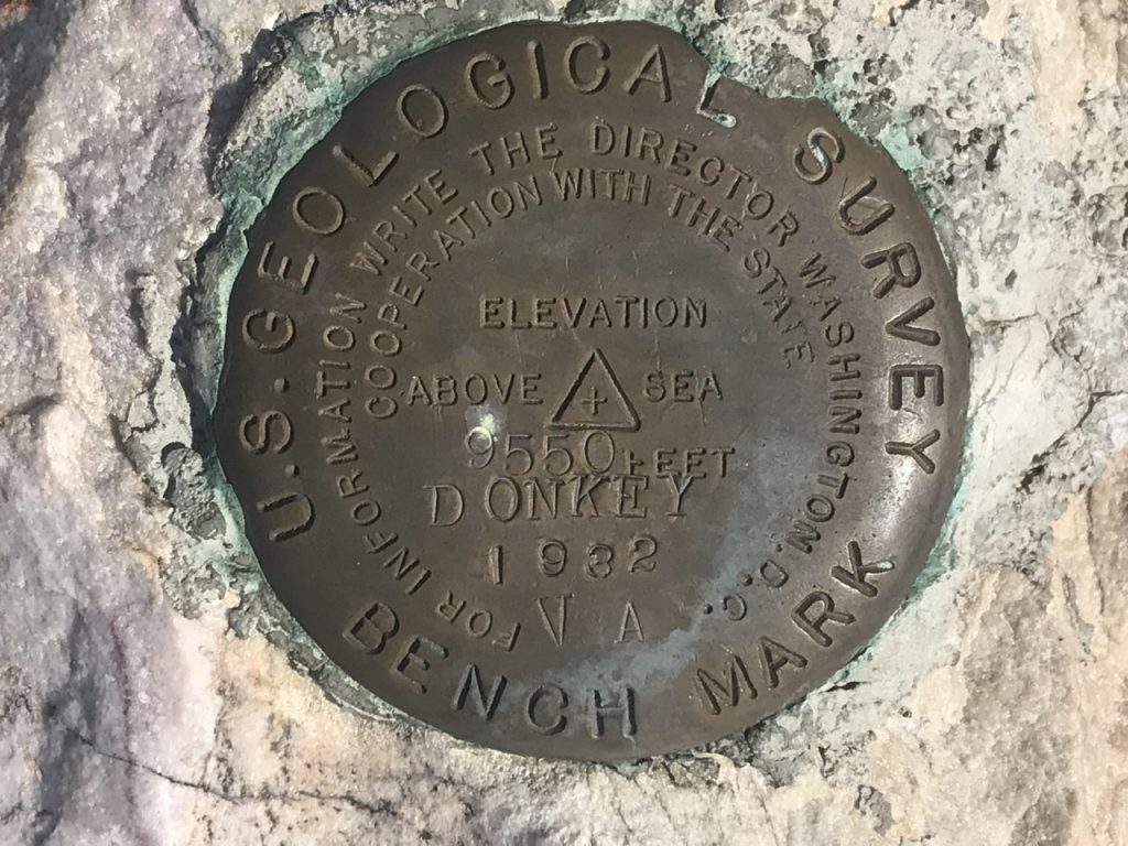 The oldest benchmark on the summit.