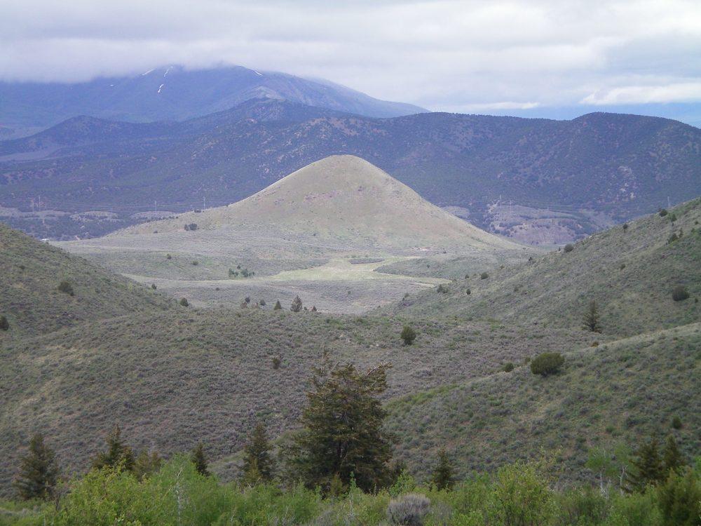 Rattlesnake Peak as viewed from a ridgeline to the Southwest. Livingston Douglas Photo