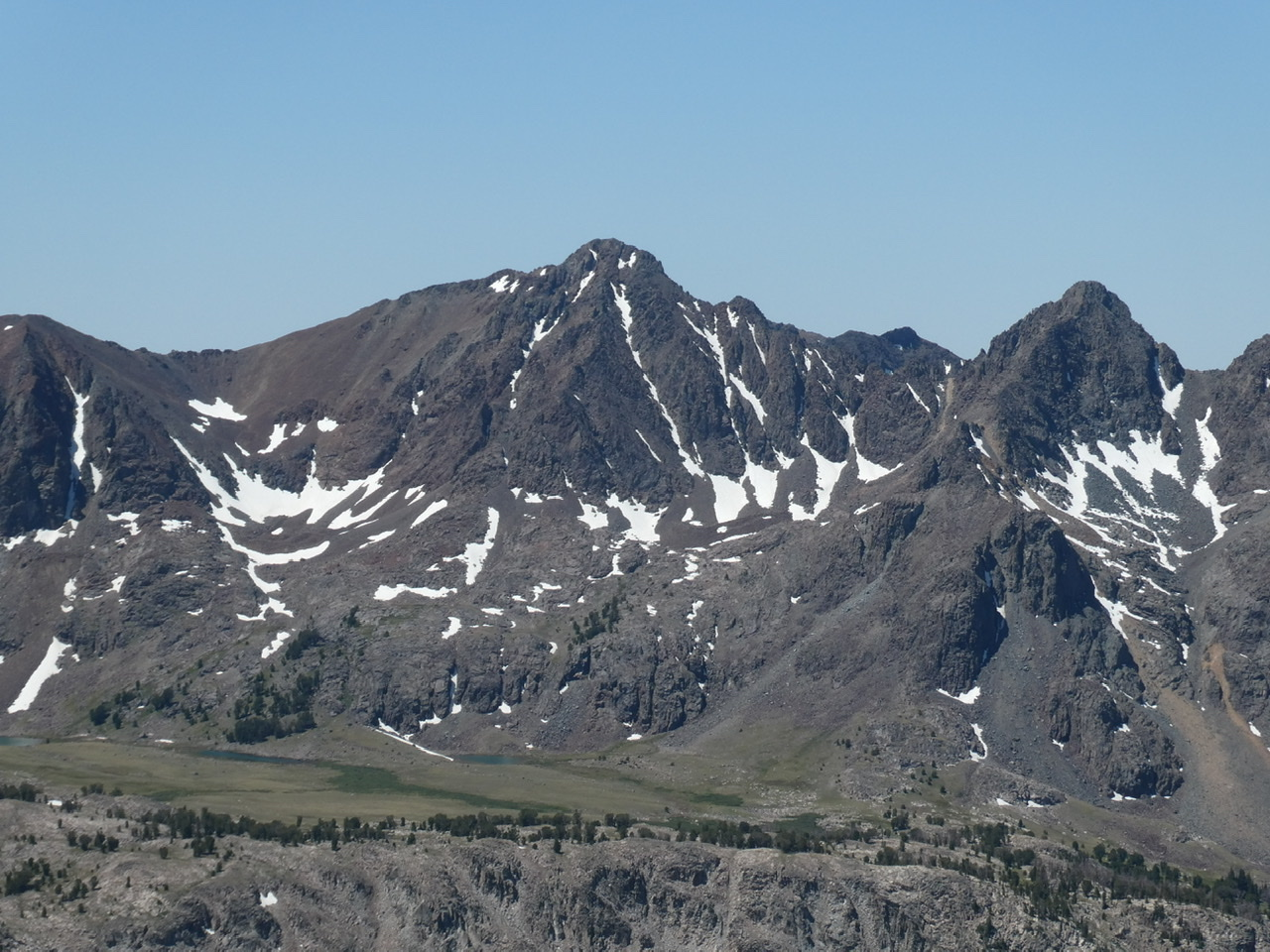 Alcyon Peak viewed from The Ramp.