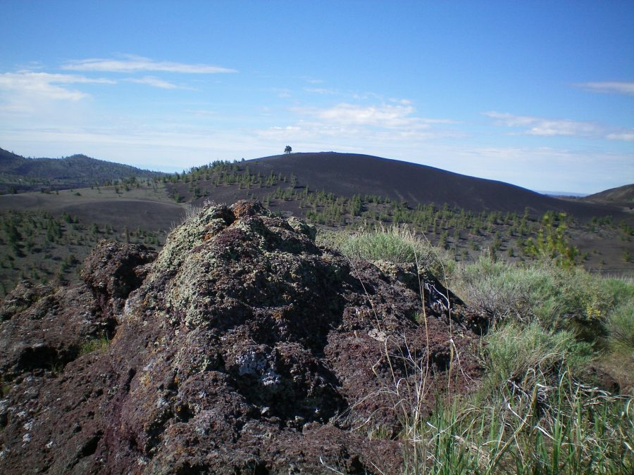 The rocky outcrop that is the high point of Paisley Cone. Livingston Douglas Photo